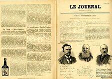 """""""LE JOURNAL Supplément illustré 1897"""": Portraits et Autographes Album MARIANI"""