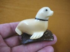 (tn-seal-602) SEAL seals marine mammal NUT Figurine Carving Vegetable ivory