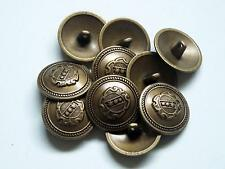 8pc 15mm American Inspired Bronze Brass Colour Metal military Button  2250