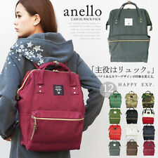 anello JAPAN Big Backpack Campus Rucksack Canvas School Bag w/handle 0193A WINE