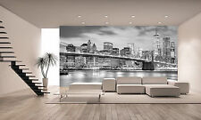 Brooklyn Bridge Black -White Wall Mural Photo Wallpaper GIANT DECOR Paper Poster