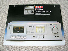 Akai CS-M01A cassette deck brochure catalogue