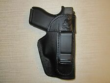 GLOCK 43 9mm. IWB,OWB,SOB leather ambidextrous holster, right or left hand