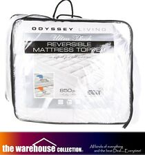 Odyssey Ultra Plush Reversible Queen Mattress Topper Pillowtop Protector 850GSM