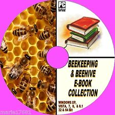 50+ RARE ANTIQUE & MODERN BEEKEEPING BEE HIVES APIARY BOOKS RESOURCE ON CD  NEW