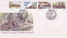 CHRISTMAS ISLAND 1 JUNE 1993 SCENIC VIEWS OFFICIAL FIRST DAY COVER SHS