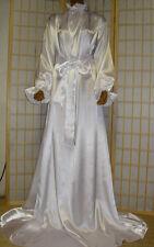 ADULT Nylon Kleid Baby Dienstmädchen kleid zofenKleid Nachthemd  Satin Weiss,