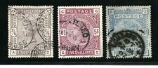 Great Britain Stamps-Scott #96 & 108-109/A44-A52-Canc/H-1883-84-Wmk.31-NG