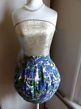 River Island size 10 pink and white tulip skirt, indigo and green floral pattern