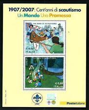 Scout - Italia 2007, cent'anni di Scautismo - foglietto 2007 perfetto - MNH**
