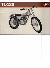 1973 Honda TL-125 (Trials)  motorcycle sales brochure (Reprint) $7.50