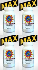 (4) ANDRO400 MAX - NATURAL TESTOSTERONE ANDRO 400 EURYCOMA LONGIFOLIA - AGES 40+