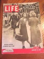 Life Magazine Military Appraisal At Moscow Trolley Stop January 1955