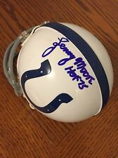 Lenny Moore Signed Baltimore Colts Mini Helmet