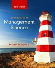 Introduction to Management Science 12th Int'l Edition