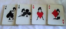 Vintage Playboy Playing Cards Gold Leaf Edge Complete No Box Made in USA