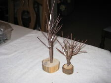 2 DIFFERENT SIZE TWIG TREES FOR VILLAGE SCENES