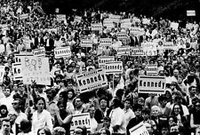 8x10 Print Bobby Kennedy Campaign Supporters Rally Los Angeles #KK232