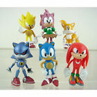 "Lot Of 6pc The HEDGEHOG Super Sonic Characters 6cm/2.4"" PVC Figure Loose Toy Set"