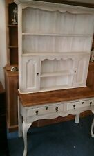 Antique oak painted country dresser