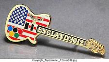 OLYMPIC PINS BADGE 2012 LONDON ENGLAND UK PATRIOTIC USA FLAG GUITAR+EAGLE(G)