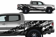 Vinyl Decal TACOMA SHRED Wrap for 16-17 Toyota Tacoma TRD SHORT BED Matte Black