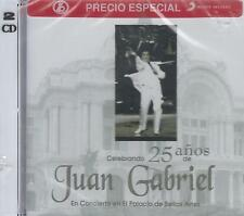 CD - Juan Gabriel NEW Celebrando 25 Anos Palacio De Bellas Artes  2 CD'S