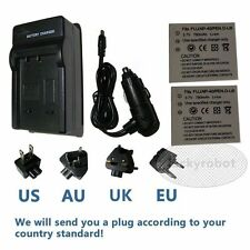 2X NP-40 Battery+charger for Fuji Fujifilm Finepix F810 Z5 610 650 700 F460 F470