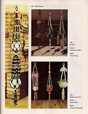Macrame Plant Hangers - 12 Variations - Craft Book: #J100 To Knot or Not to Knot