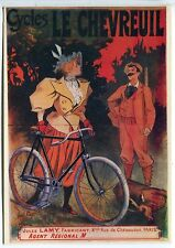 CARTE POSTALE VELO CYCLES CHASSE CYCLES LE CHEVREUIL PARIS  REEDITION