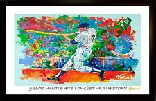 70% SALE MICKEY MANTLE FINE-ART PRINT COA SIGNED BY WINFORD (HR)