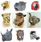 Overhead Rubber Latex Mask Safari Zoo wild birds horses pets films movie Animal