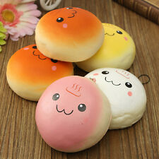 Cute Jumbo 10cm Smile Marshmallow Bun Squishy Phone Decoration Toy Pendant Baby