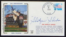 SHOTGUN SHUBA SIGNED BROOKLYN DODGER CACHET 1953 WORLD SERIES COVER PSA PRE-CERT
