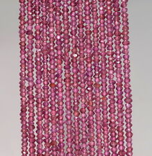 3X2MM BRAZILIAN PURPLE GARNET GEMSTONE GRD AA FACETED RONDELLE LOOSE BEADS 13""