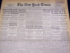 1930 APRIL 19 NEW YORK TIMES - JERSEY CITY PLANE CRASH KILLS 4 - NT 3889