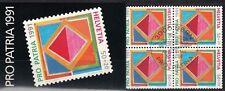 SCHWEIZ, 1991 Pro Patria Markenheftchen 0-90 gestempelt, (17537)