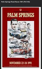 Palm Spring Road Races 1991 (Phil Hill-Cobra-Ferrari) Extremely Rare Car Poster!