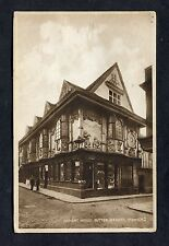View of the Ancient Hosue, Butter Market, Ipswich. Stamp/Postmark - 1943.