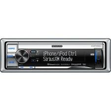 Kenwood KMR-555U Silver CD Marine Receiver w/ Front USB and Aux Inputs KMR555UB