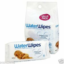 WaterWipes Sensitive Baby Wipes, Natural and Chemical-Free, 4 X 60 = 240 Wipes