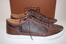 NIB COACH Size 12 Men's Mahogany Leather Signature C PORTER LOW TOP Sneaker