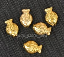 20pcs Tibetan Silver Antique gold fish Charms spacer beads 11x8x4mm±0.5mm