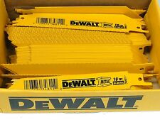 "New 100 Pc Dewalt 18 TPI-6"" Bi-metal Sawzall Reciprocating Saw Blade-Free Ship"