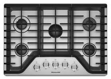 "KitchenAid 30"" Stainless 5 Burner Gas Cooktop KCGS350ESS"