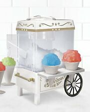Nostalgia Snow Cone Maker Ice Shaver Machine Cart Electric Slushie Icee Shaver