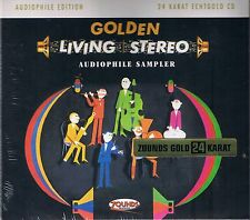 Golden Living Stereo Various A. 24 Carat Zounds Gold CD NEW Sealed Audiophile Ed
