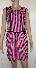 A/WEAR, SIXE 12, , EUR 40, PINK/PURPLE/BLACK SLEEVELESS DRESS, PRE-LOVED