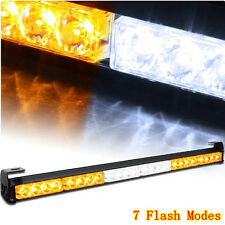 "27"" Amber/White 24 LED Emergency Warning Strobe Flash Light 4x4 Offroad Jeep SUV"
