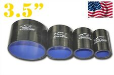 """4-ply Silicone Straight Coupler Hose Pipe couplings 89mm (3.5"""") Black"""